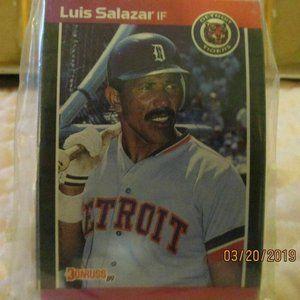 Donruss 89 Luis Salazar Tigers Larry (Steve) Steve